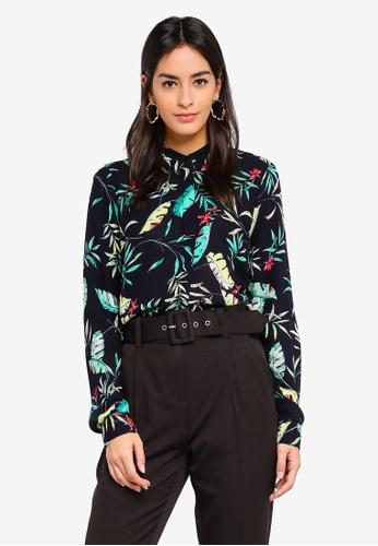 Vero Moda beige Frida Palm Shirt 2A8F3AAC63F6CDGS_1