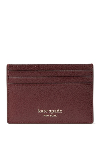 KATE SPADE red Kate Spade Eva Small Slim Card Holder - Cherrywood C88C5ACD2AFDD1GS_1