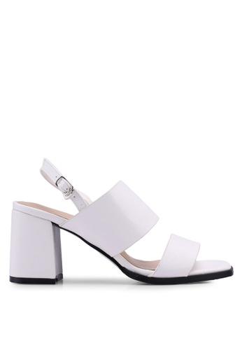 Something Borrowed white Double Strap Chunky Heels 44E21SH43DB02EGS_1