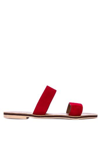 ANINA red Kari Slide Sandals A2E13SH6635AFAGS_1