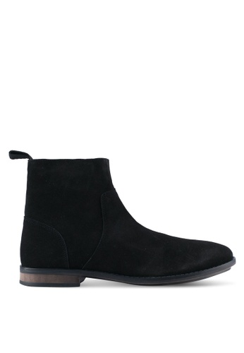 ZALORA black Calf Leather Boots 2B4A3SHA5AF9FEGS_1