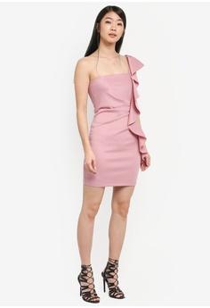 5fa46b32202 60% OFF Miss Selfridge CNY Scuba One Shoulder Dress RM 282.10 NOW RM 112.90  Sizes 12