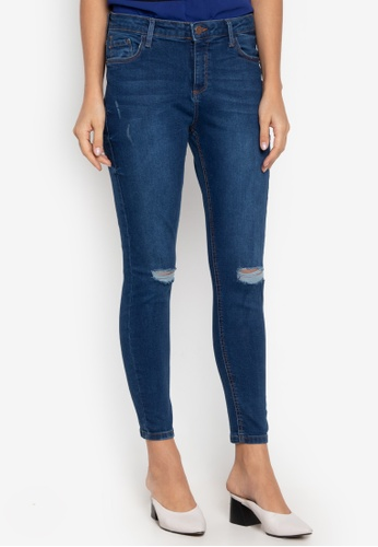 9d303156360 Dorothy Perkins blue Regular Fit Indigo Darcy Ripped Ankle Grazer Jeans  5F2F0AACEA8A28GS_1
