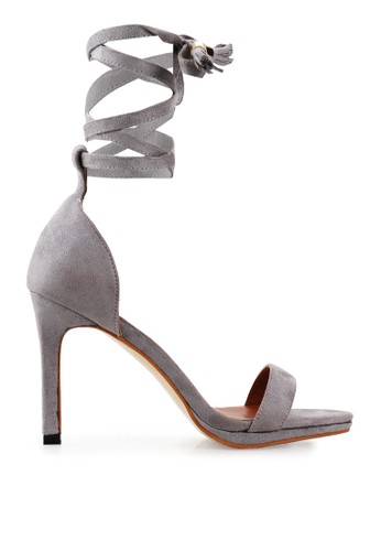 Mandy's grey Mandy's Les bretelles Grey Heels MA947SH70CRLID_1