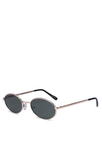 Mango gold Oval Sunglasses C2656GL62AC9E4GS_1