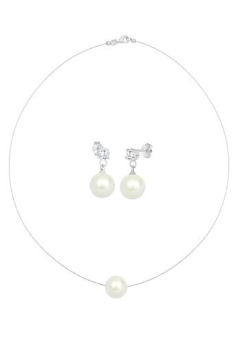 淡水珍珠 925 銀首飾組合,esprit 門市 飾品配件, 項鍊