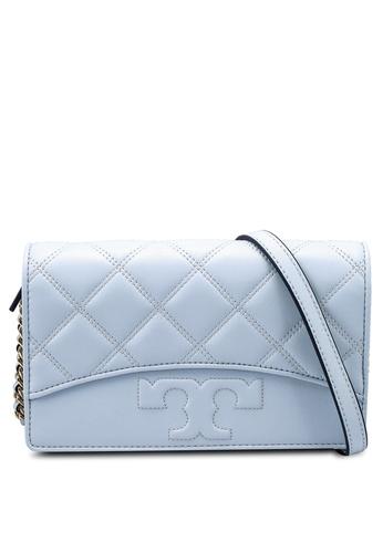 TORY BURCH 藍色 Savannah Chain Flat Wallet Bag (NT) 12E10ACCE865B7GS_1