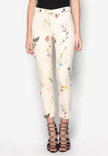 Floral Cigarette Trousers, 服飾, 直腳zalora taiwan 時尚購物網褲