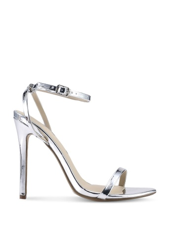 MISSGUIDED silver Basic Barely There Heels D17CBSH89467CFGS_1