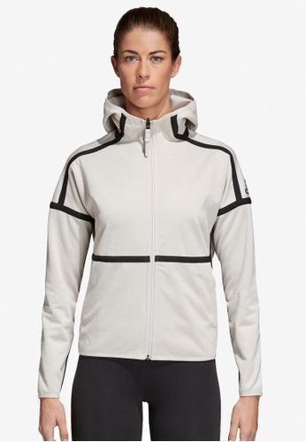 adidas white adidas w zne so reversible hoodie AD372AA0SUGKMY_1