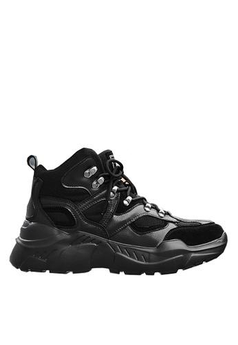 Twenty Eight Shoes 黑色 時尚牛猄絨運動鞋 VMT1859 AA894SH24DE75BGS_1