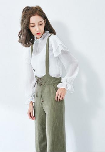 8f6e74ec5dbe47 LYCKA green LL10070 Korean Style Autumn-Winter Lady Long Sleeve T-Shirt - White