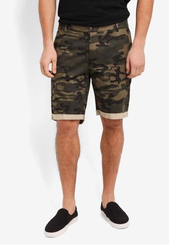 Flesh IMP green Yager Side Pocket Shorts 612ABAAE16117FGS_1