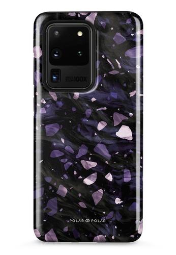 Polar Polar purple Lilac Terrazzo Gem Dual-Layer Tough Case Glossy For Samsung Galaxy S20 Ultra 5G D2E23ACE0D713BGS_1