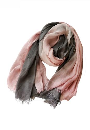 HAPPY FRIDAYS Cotton Yarn Mix Color Tie Dye Scarf JW JS-1100 04022AC2381124GS_1
