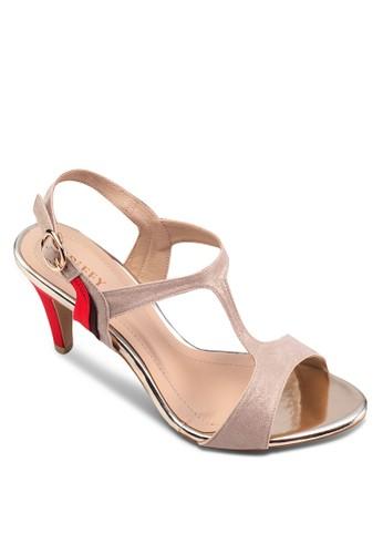 三色zalora 折扣碼時尚高跟涼鞋, 女鞋, 高跟鞋