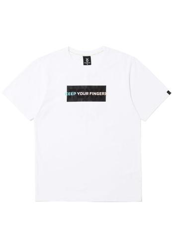 Fingercroxx white Rainbow slogan print tee 5EF25AA717AC1CGS_1