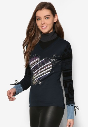 Marino 長袖T-shirt、 服飾、 服飾DesigualMarino長袖上衣最新折價