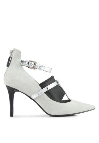 House of Avenues grey T-Strap Ankle Pumps 32DA2SH717D149GS_1