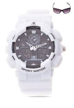Chronograph Watch With Free Sunglasses JC-H1145C-SW-01
