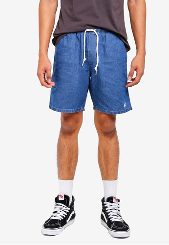 OBEY blue Keble Shorts 7C1E2AA4D2165EGS_1