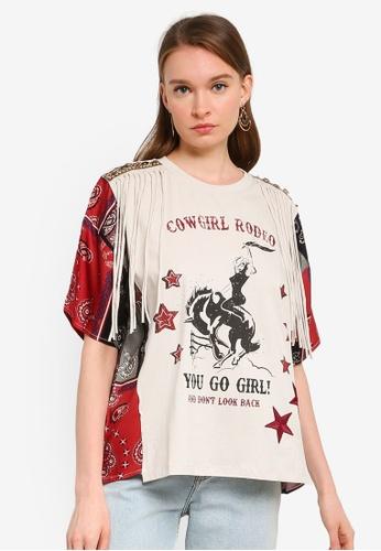 Desigual beige Alysa T-Shirt C12DBAA105B826GS_1