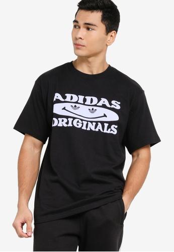 ADIDAS black originals smile tee 08C48AA7C2328DGS_1