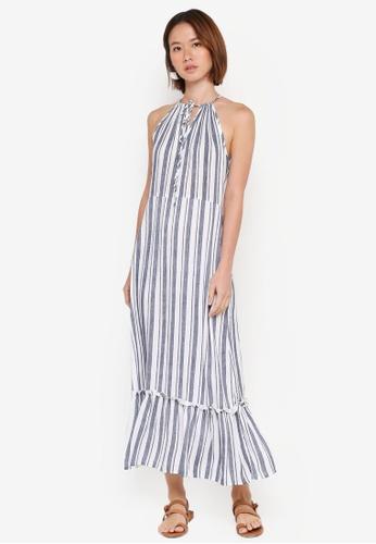 Cotton On blue Woven Clover High Neck Maxi Dress 93E84AA0F36DC3GS_1