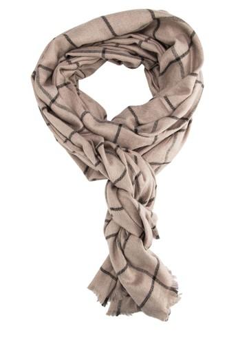格紋抽鬚圍巾, 飾品配件esprit taiwan, 飾品配件