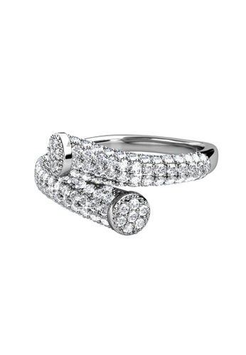 Her Jewellery silver Her Jewellery Mila Ring (White Gold) with Premium Grade Crystals from Austria 2C051AC69D340CGS_1