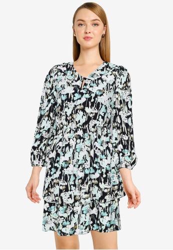 Vero Moda black Chello V-neck Frill Dress EEAE9AAD48BDEDGS_1