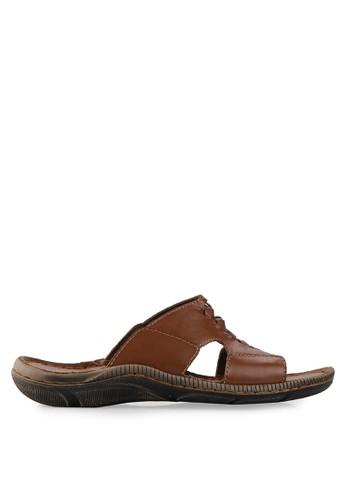 Andretelli brown Durnham Leather Sandal AN907SH07JMIID_1