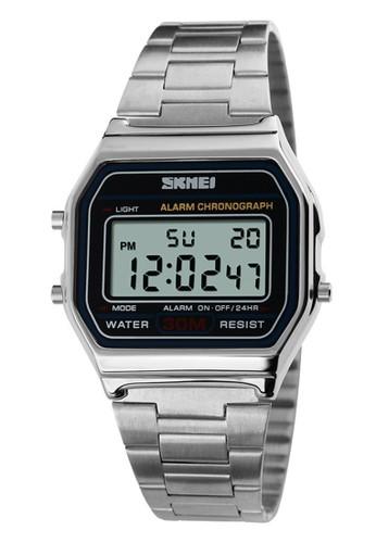 Digitec silver Skmei - Jam Tangan Pria - Silver - Stainless Steel - 1123-D CE4DCACB7BA559GS_1