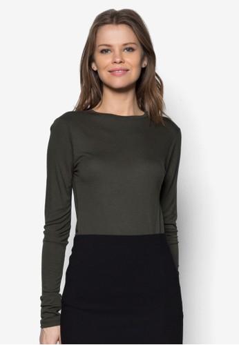 Luxe 圓領長袖衫, 服zalora鞋飾, 上衣