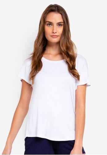Cotton On Body white Sleep Recovery Cap Sleeve T-Shirt DB378AAA2E9E93GS_1