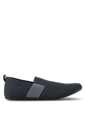 UniqTee grey Classic Textile Loafers UN097SH0SYS8MY_1