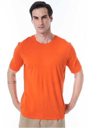 Sisley orange Relaxed Fit T-shirt A6983AA278C7DAGS_1