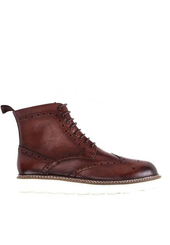 Twenty Eight Shoes Vintage Leather Brogue Boot 615-1 7B649SH249E81EGS_1