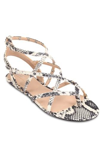 Sansa 蛇紋羅馬esprit china涼鞋, 女鞋, 鞋