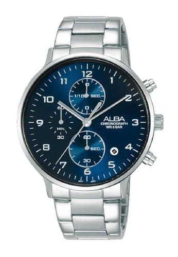 Alba blue and silver Alba Men Analog Prestige AM3685X1 Stainless Steel Silver Blue 9A95BAC9B6B1BBGS_1