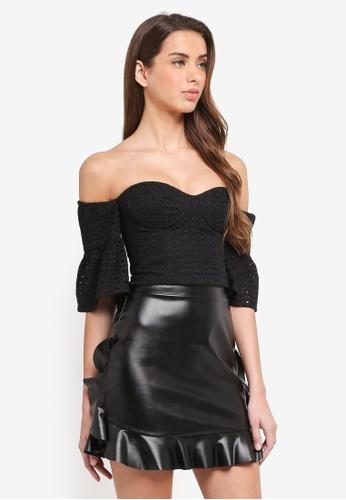 Bardot black Broderie Top BA332AA0ST9KMY_1