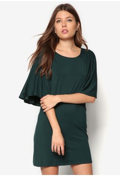 Basic Cape Shift Dress