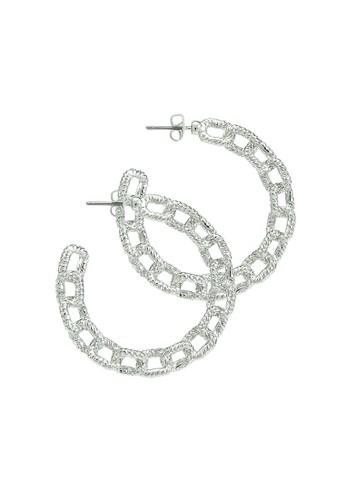 Pieces silver Dodo Hoop Earrings 0E2DAAC9839758GS_1