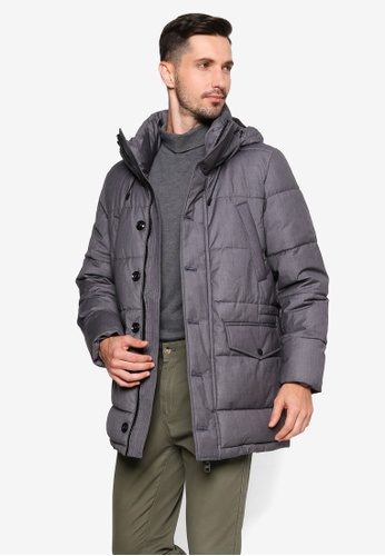 Mango Man grey Hooded Waterproof Quilted Parka AD1C3AA9BAEBB1GS_1