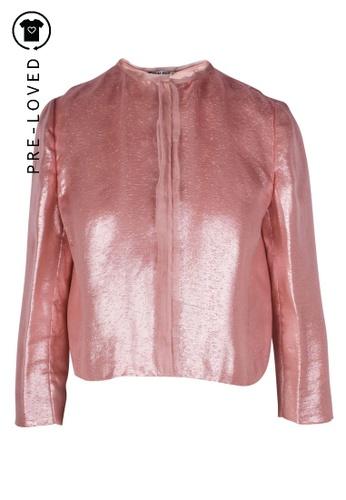 Miu Miu pink Pre-Loved miu miu Shiny Pink Jacket 0A5FBAAED8DC97GS_1