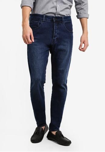 CR7 藍色 Type T窄管牛仔褲 CR532AA83EFKMY_1