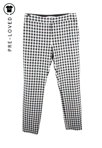 Diane Von Furstenberg black Pre-Loved diane von furstenberg Black and White Checkered Trousers 178C9AAE636CB4GS_1