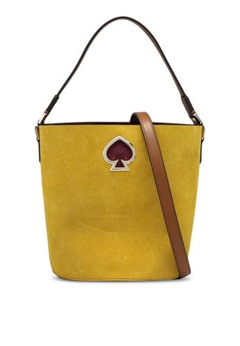 kate spade new york gold Suzy Suede Small Bucket Bag (cv) 2F459ACCBA3F20GS_1