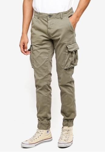 OVS black Cargo Pocket Pants 2C08BAAE99E1BEGS_1