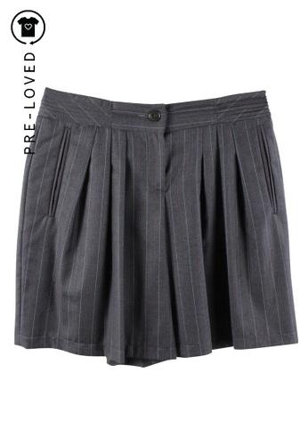 Emporio Armani grey Pre-Loved emporio armani Grey Striped Shorts 26FC0AA6EBB550GS_1